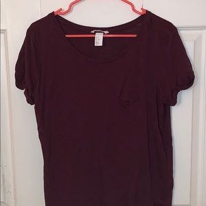 Maroon t-shirt (4/$20)